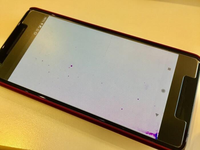 液晶漏れで紫色の斑点が出てきたPixel 2