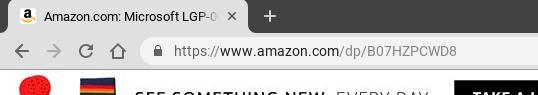Surface Pro 6のAmazon.com URL