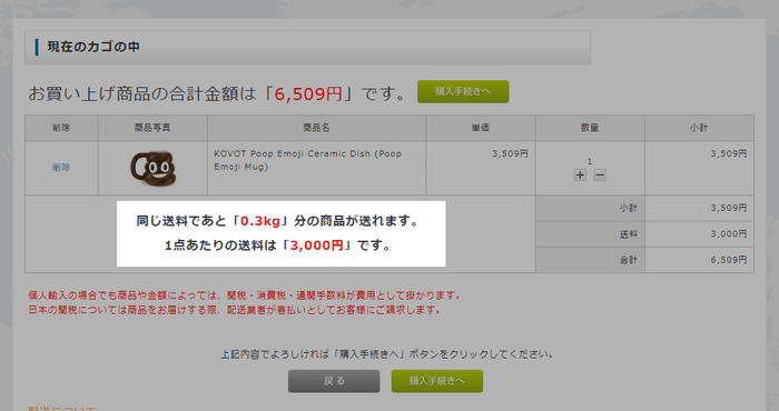 Xボーダーの購入確認画面