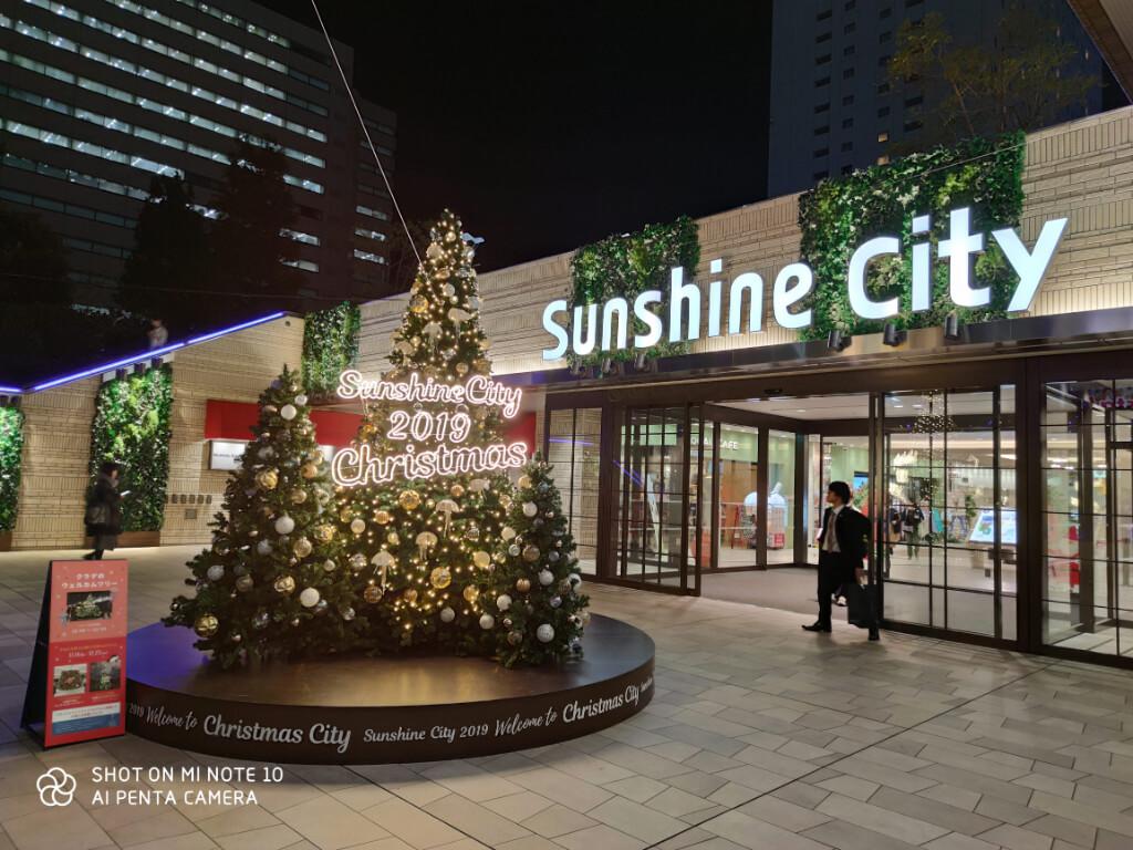 Xiaomi Mi Note 10で撮影したクリスマスツリー