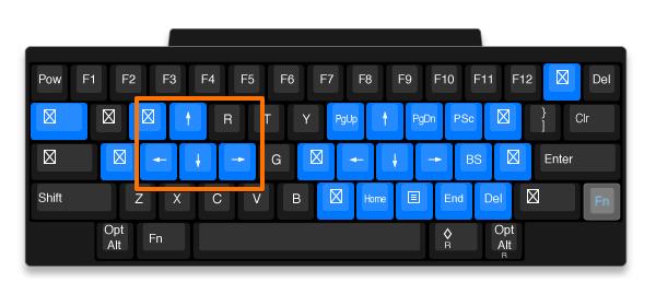 HHKBおすすめキーマップ設定 左手方向キー