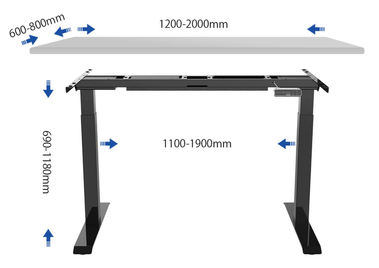 SANODESK EJ2の対応サイズ表