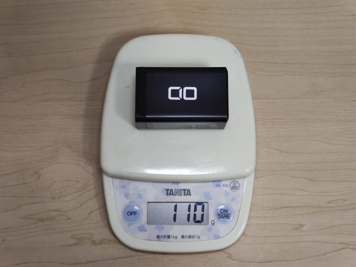 Lilnob 65Wの重さ実測は110g