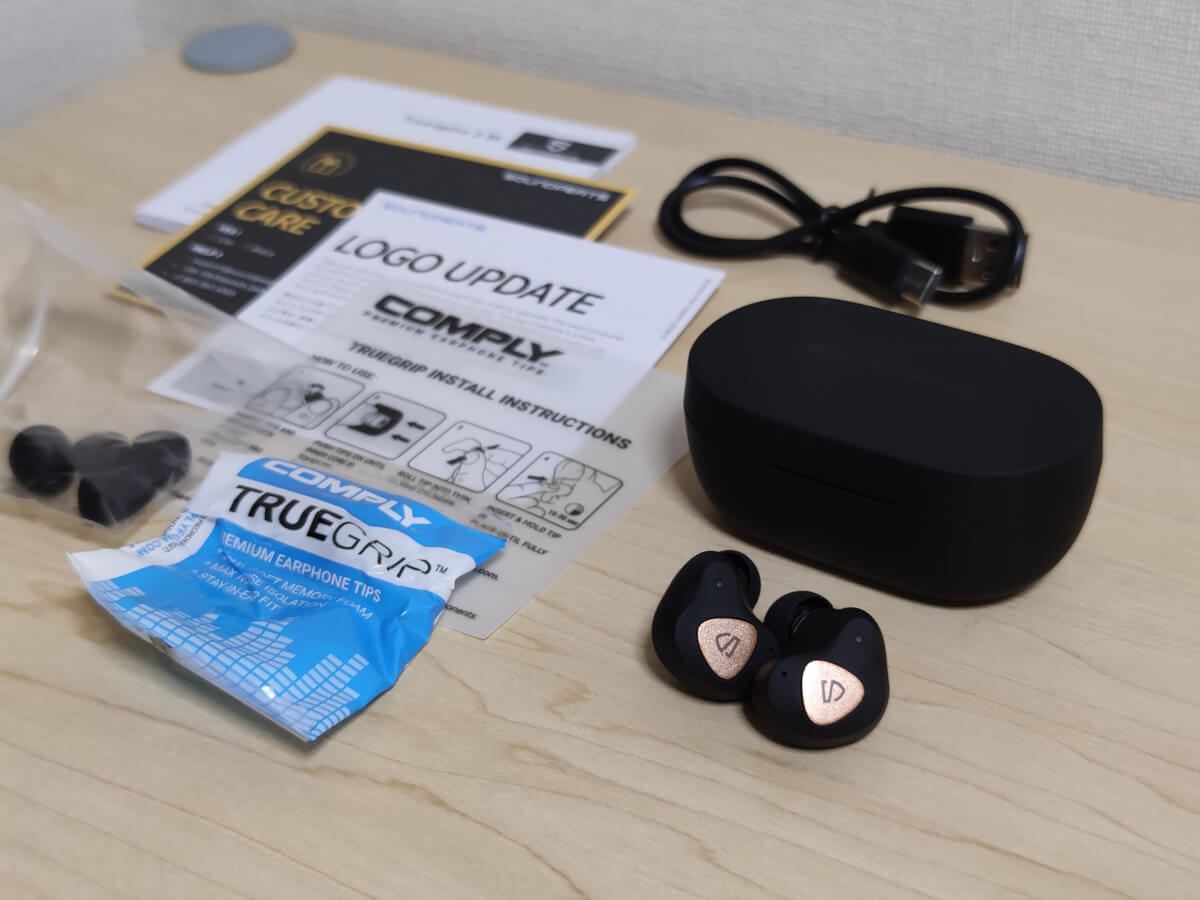 SOUNDPEATS Truengine 3SEの付属品