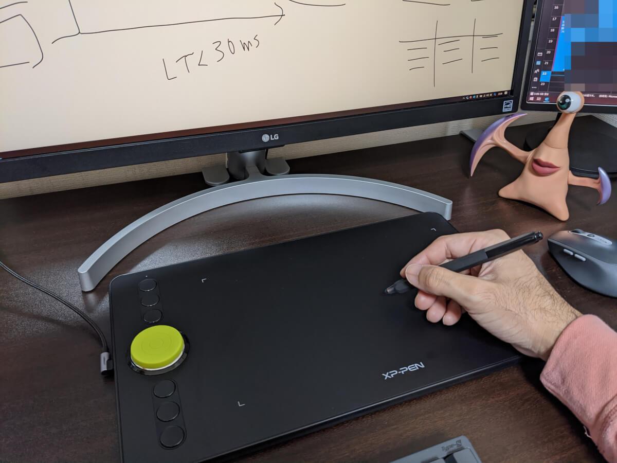 XP-Pen Deco 02を仕事のTeamsで使っている様子