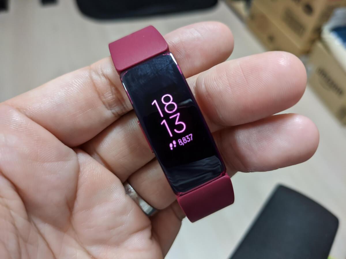 しっかり記録も動作もしている、新品のFitbit Inspire